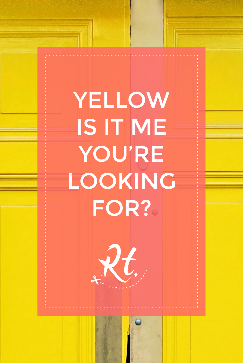 Yellow is it Me You're Looking For by Rosh Thanki, yellow door at Life Food cafe