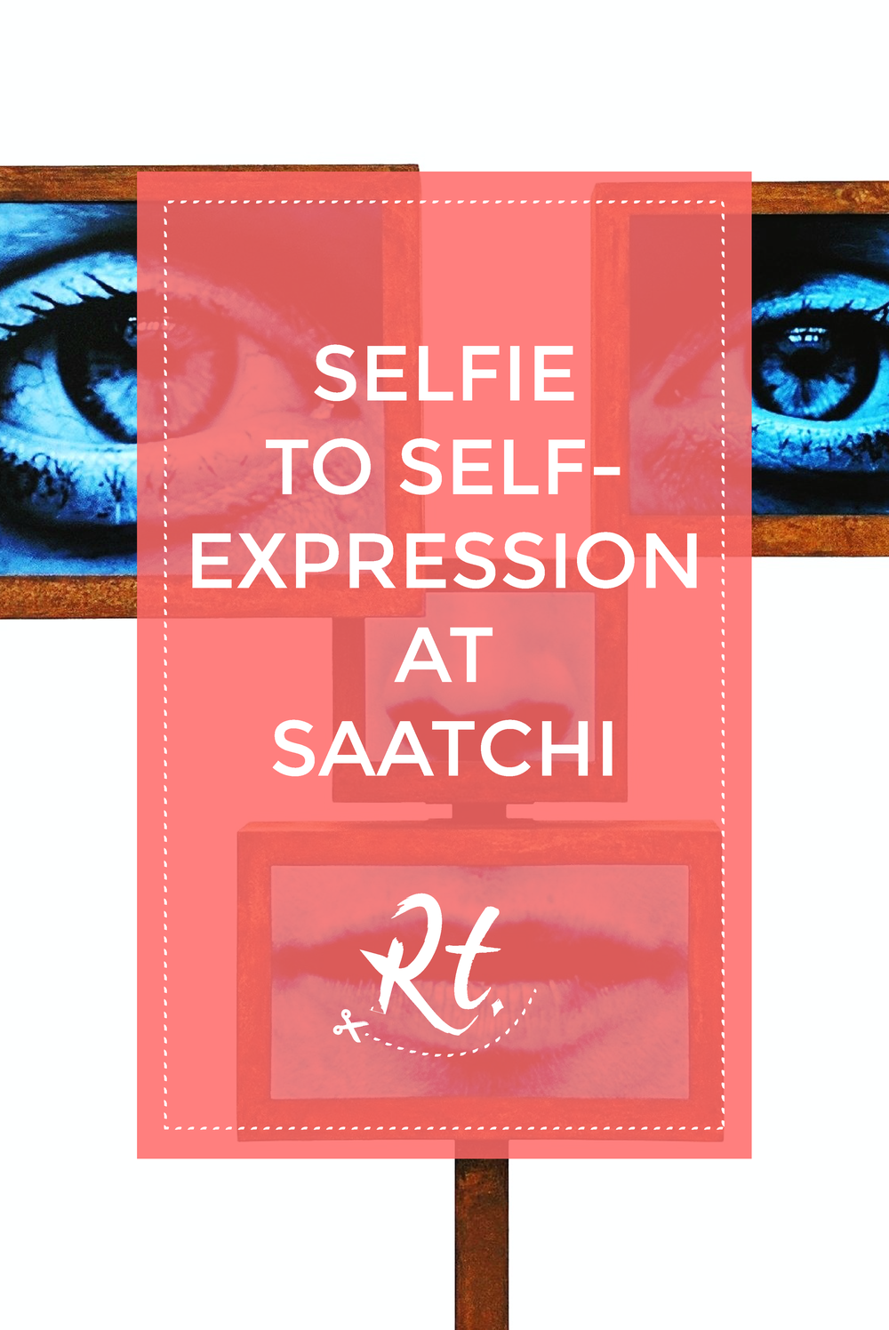 Selfie to Self-Expression at Saatchi by Rosh Thanki, Charlotte Colbert screen art