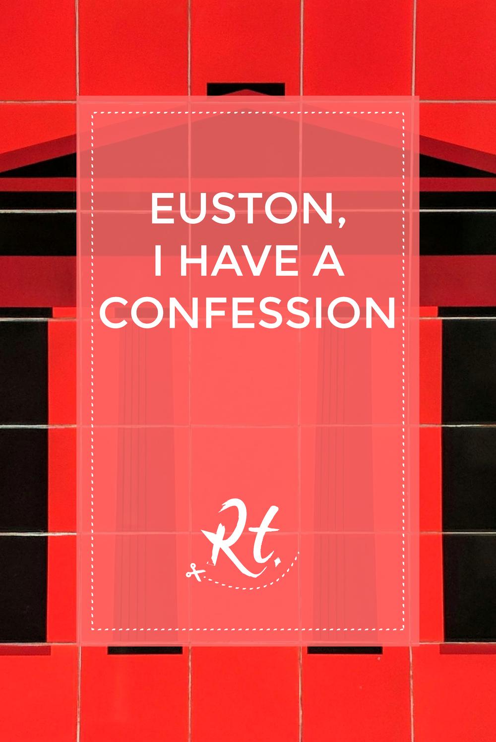 Euston, I Have a Confession by Rosh Thanki, Euston arch tiles