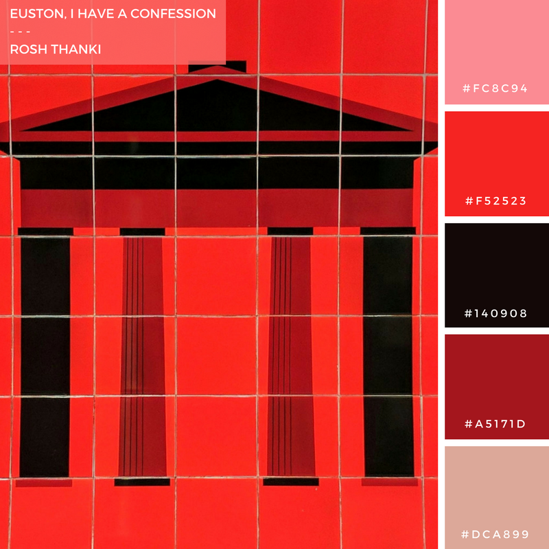 Colour Palette for Euston, I Have a Confession by Rosh Thanki, Euston arch tiles