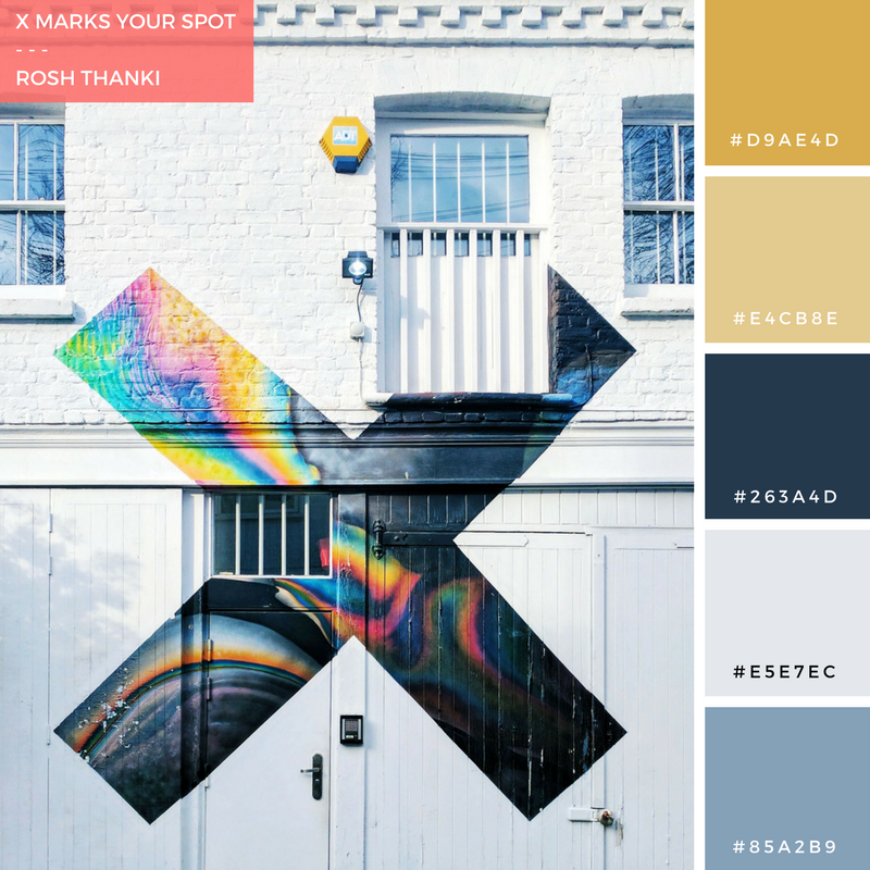 Colour Palette for X Marks Your Spot by Rosh Thanki, The XX Coexist album art, at XL Recordings in London