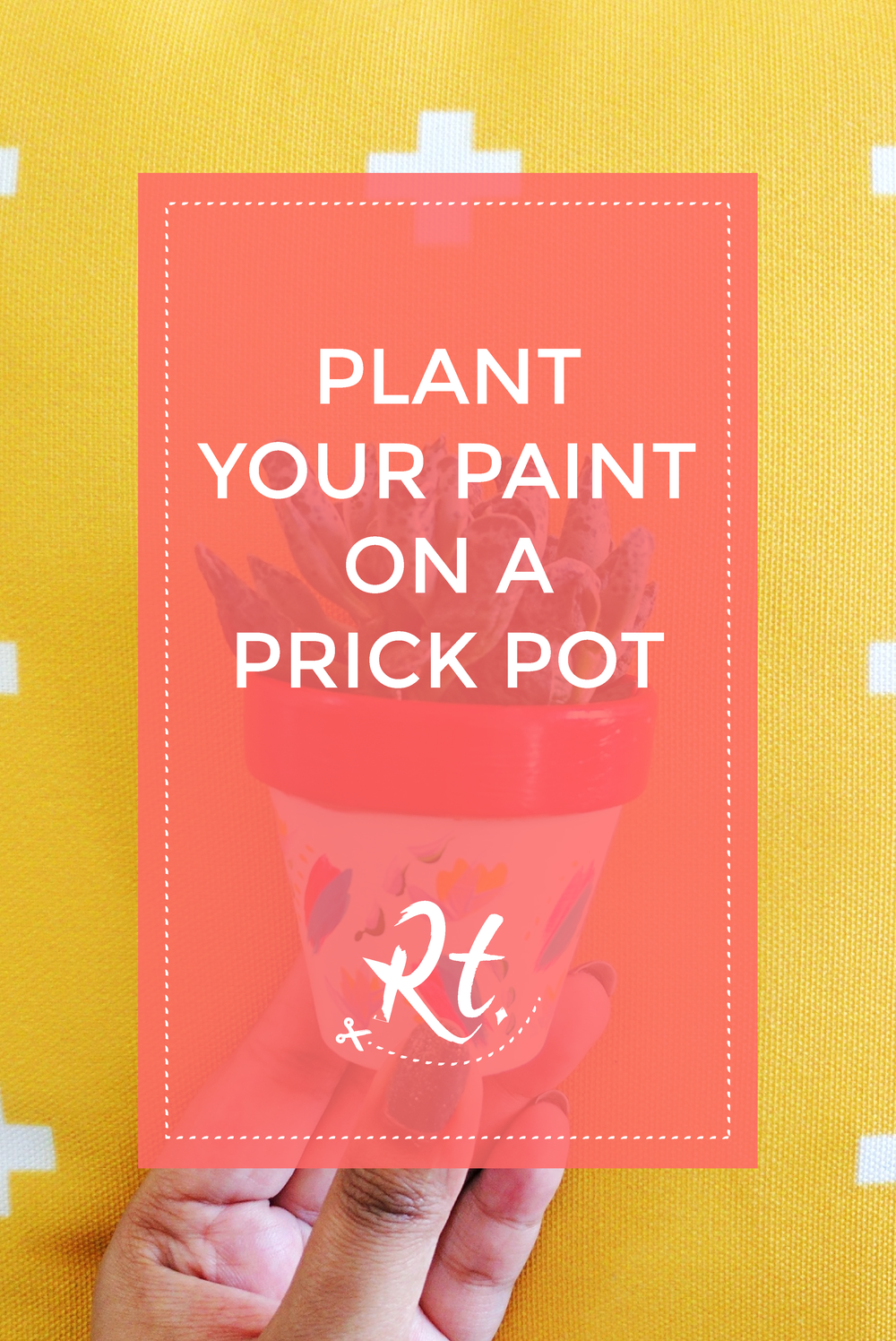 Plant Your Paint on a Prick Pot by Rosh Thanki, Prick LDN plant pot decorated using Reeves paints