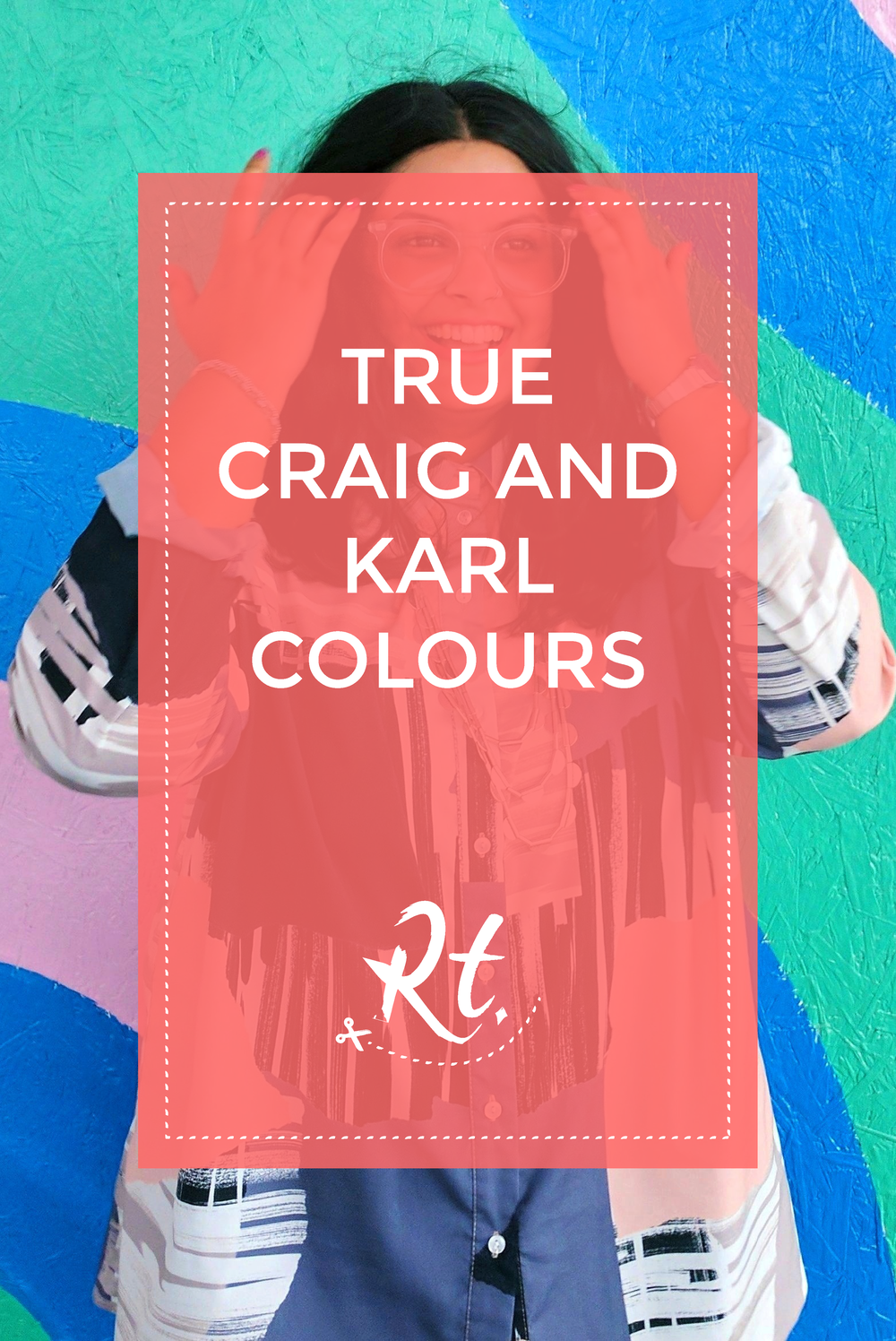 True Craig and Karl Colours by Rosh Thanki, ASOS shirt in front of Craig and Karl pattern mural at White City petrol station
