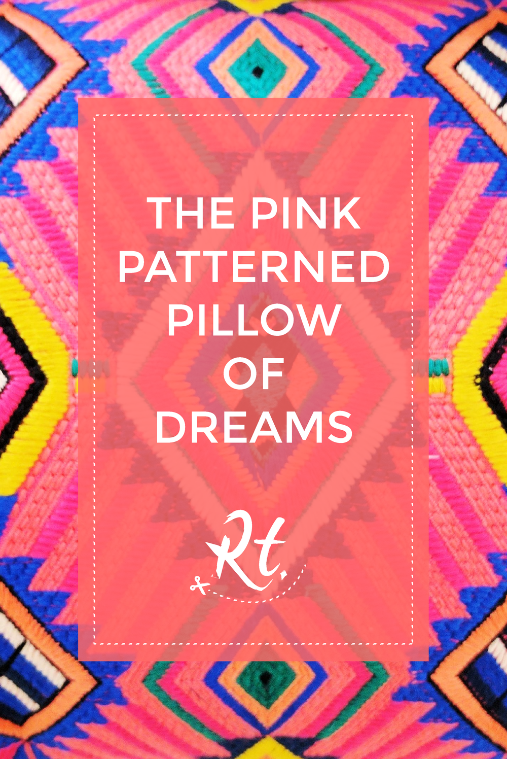 The Pink Patterned Pillow of Dreams by Rosh Thanki, Marks and Spencer diamond embroidered cushion