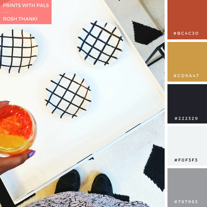 Colour Palette for Prints with Pals by Rosh Thanki, We Blog Design Summer Social at Future and Found with Kangan Arora rug