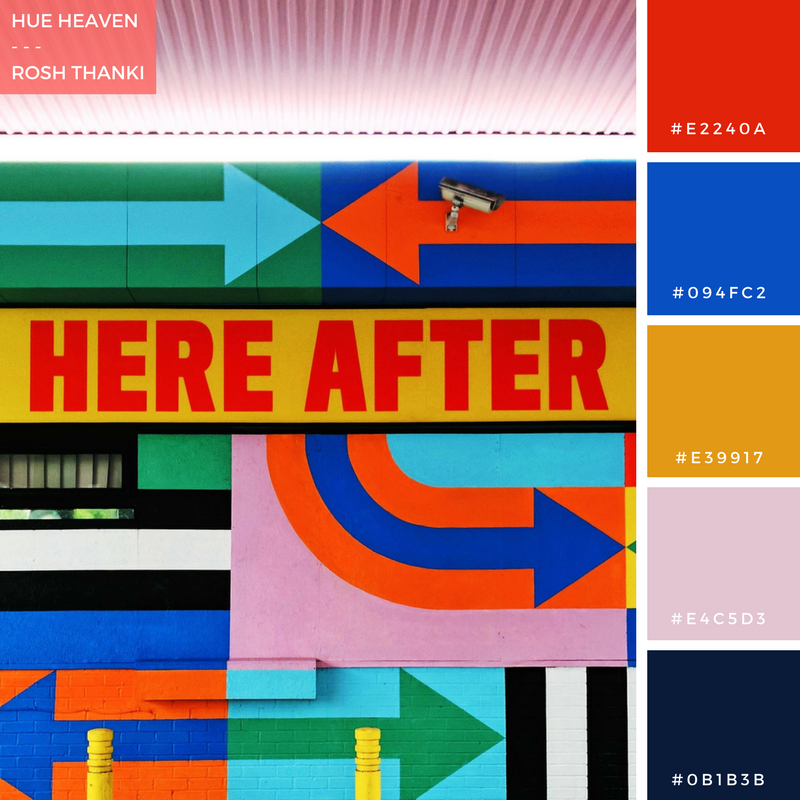 Colour Palette for Hue Heaven by Rosh Thanki, Craig and Karl White City, Here After street art