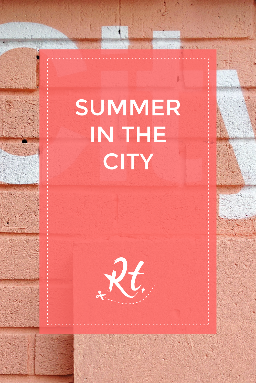 Summer in the City by Rosh Thanki, typography painted onto a wall at Pergola on the Roof