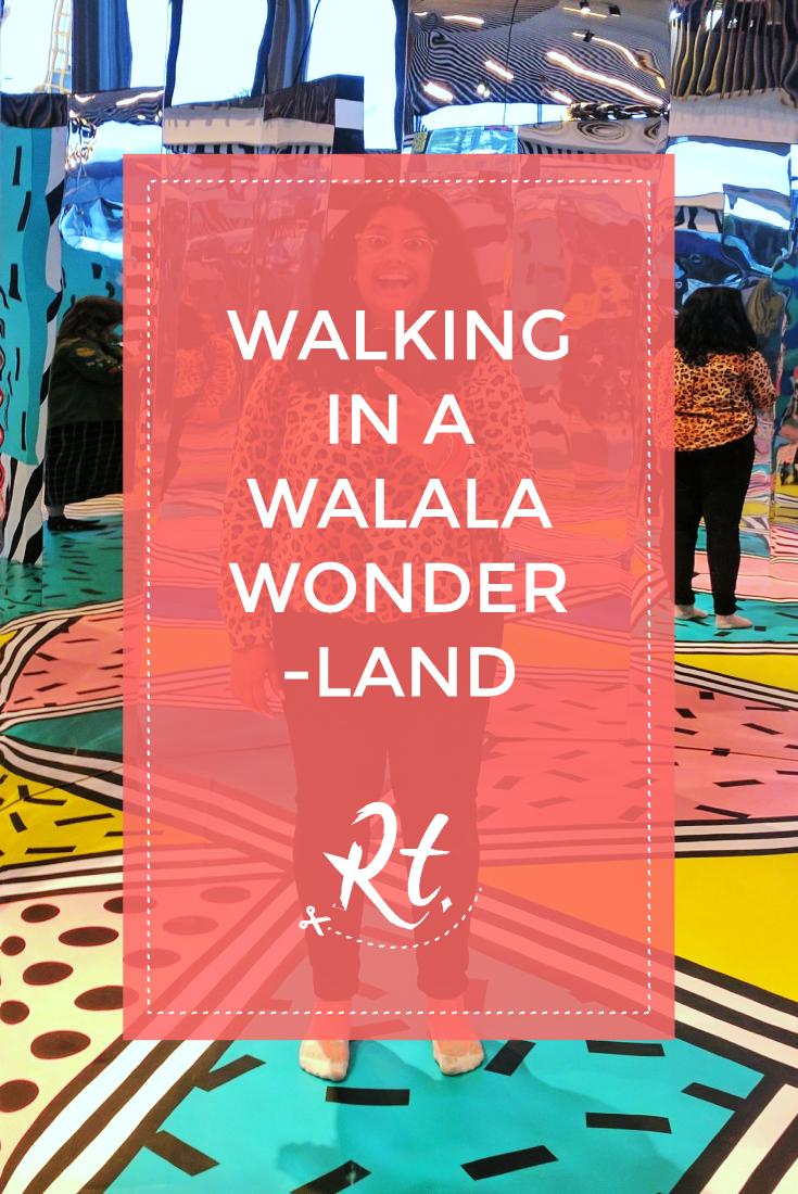 Walking in a Walala Wonderland by Rosh Thanki, Camille Walala Play installation at Now Gallery