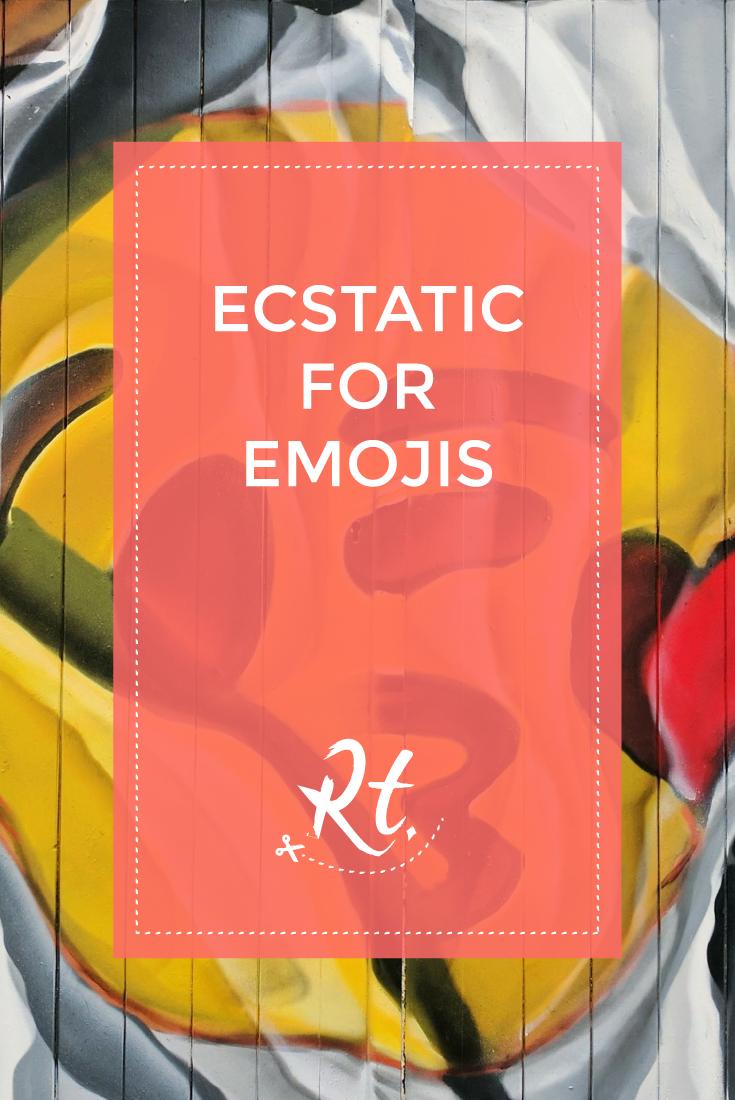 Ecstatic for Emojis by Rosh Thanki, Airborne Mark emoji street art in Camden