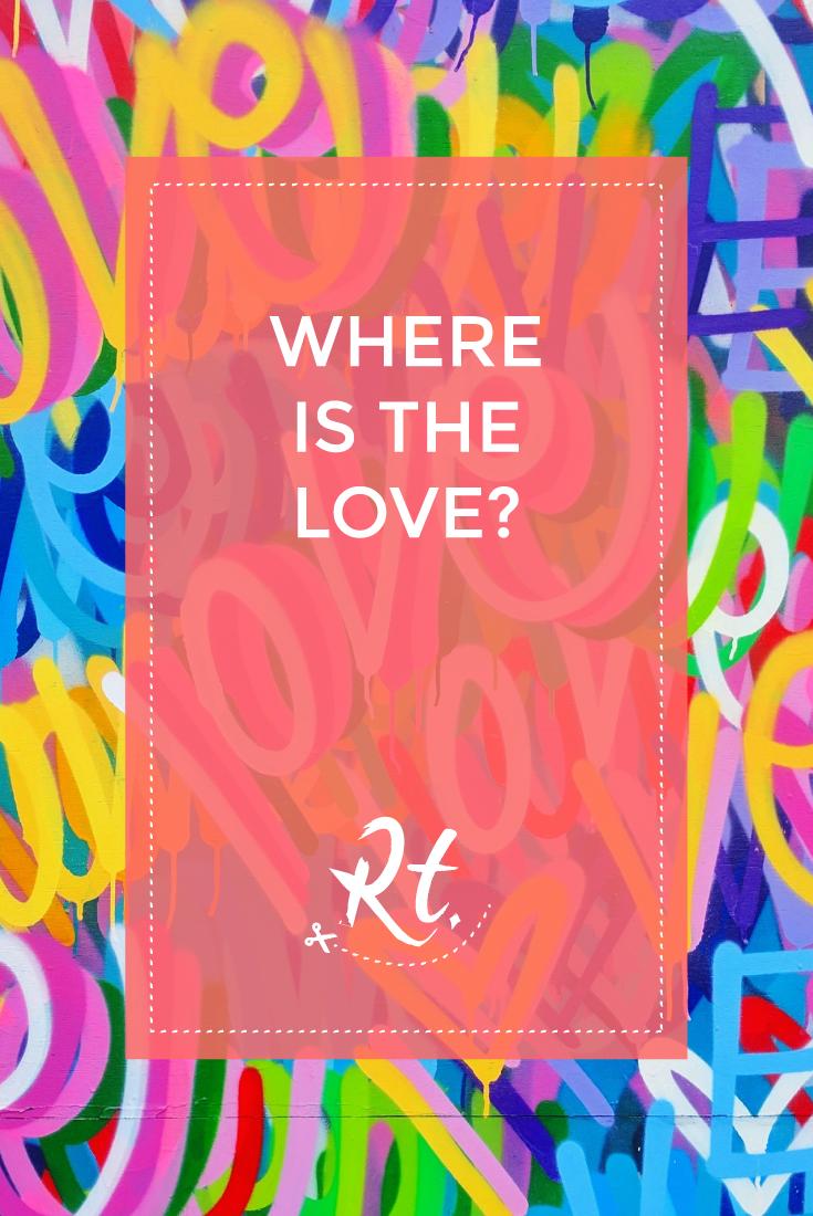 Where is the Love? by Rosh Thanki, Chris Riggs love mural at Ladbroke Grove, street art