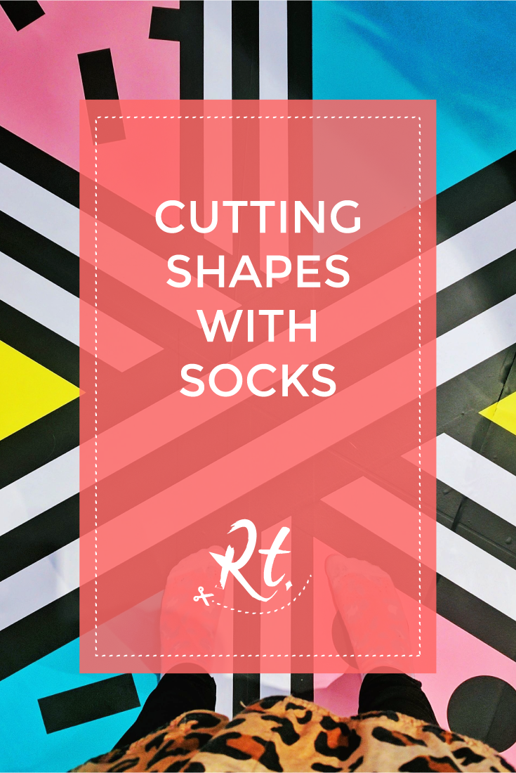 Cutting Shapes with Socks by Rosh Thanki, Camille Walala exhibition in Now Gallery
