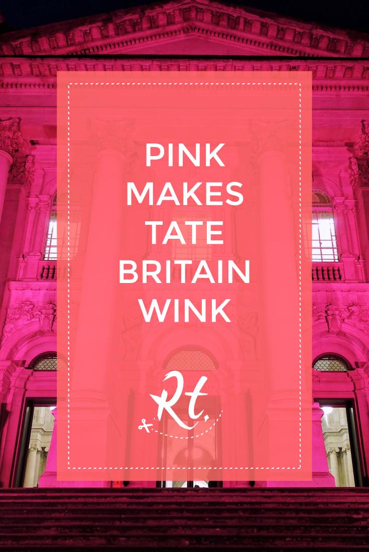 Pink Makes Tate Britain Wink by Rosh Thanki, Tate Britain at night