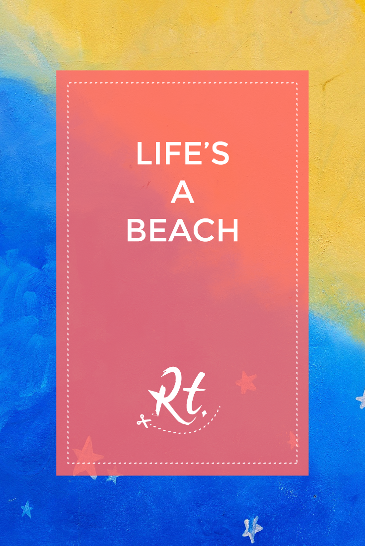 Life's a Beach by Rosh Thanki, Alessandra Tortone mural in camden