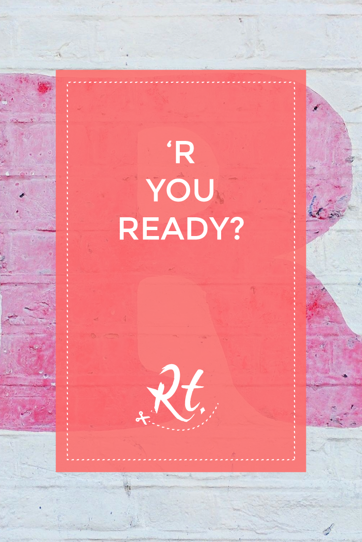'R You Ready? by Rosh Thanki, R typography from Harts Corner in Lower Clapton
