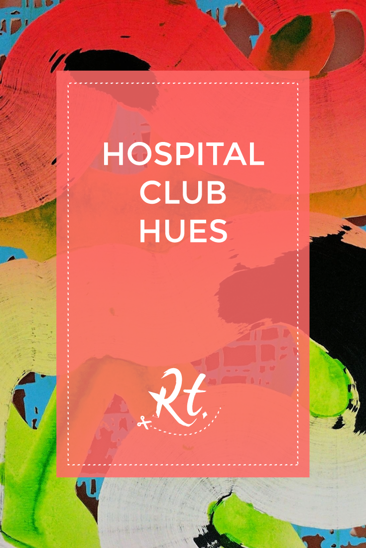 Hospital Club Hues by Rosh Thanki, brush stroke installation by Ralph Anderson