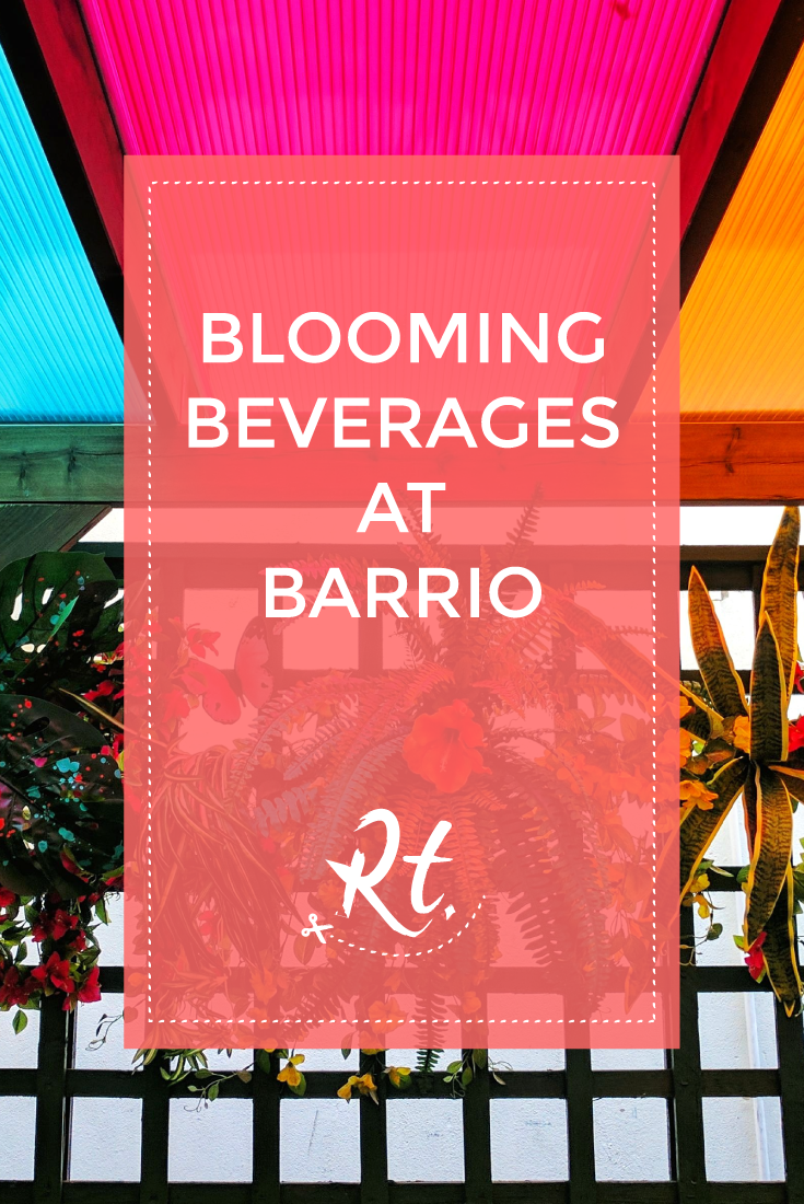 Blooming Beverages at Barrio by Rosh Thanki, outdoor colourful terrace