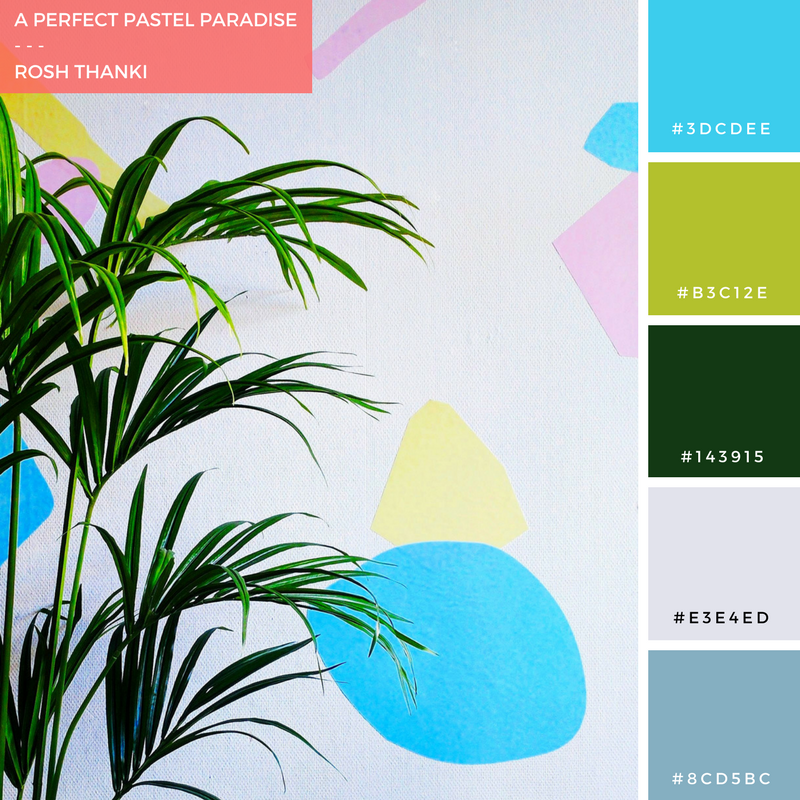 Colour Palette for The Bloggers Market, A Perfect Pastel Paradise by Rosh Thanki, pixersize wall art