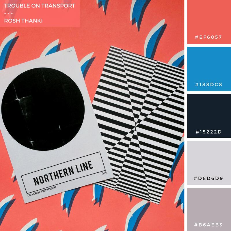 Troube on Transport by Rosh Thanki, northern line Nick Cranston print