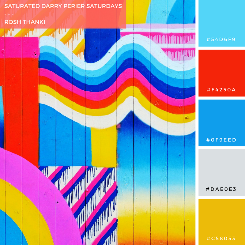 Colour Palette for Saturated Darry Perier Saturdays by Rosh Thanki, street art in Camden