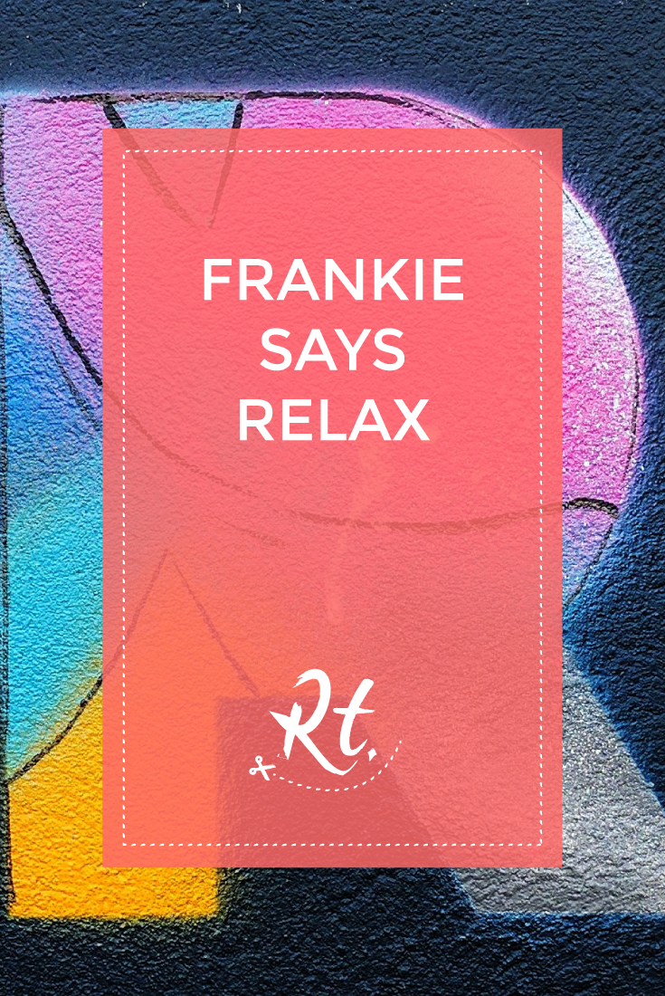 Frankie Says Relax by Rosh Thanki, R letter typography at well street market