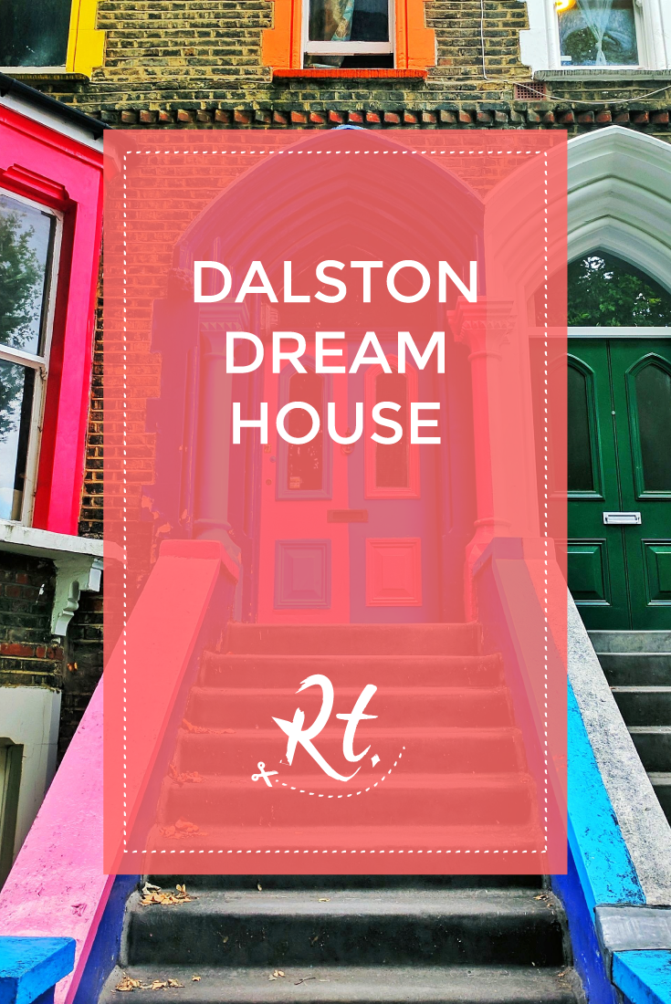 Dalston Dream House by Rosh Thanki, pink and blue door in Dalston