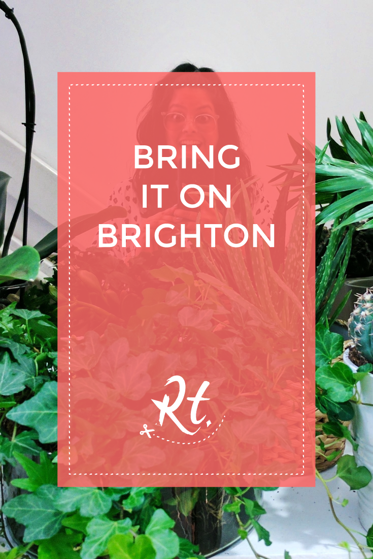 Bring It On Brighton by Rosh Thanki, selfie surrounded by plants at Noho Studios
