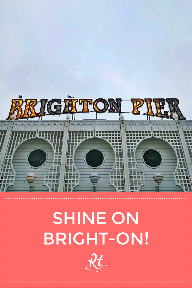 Shine On Bright-On! By Rosh Thanki, Brighton Pier light bulb lettering sign
