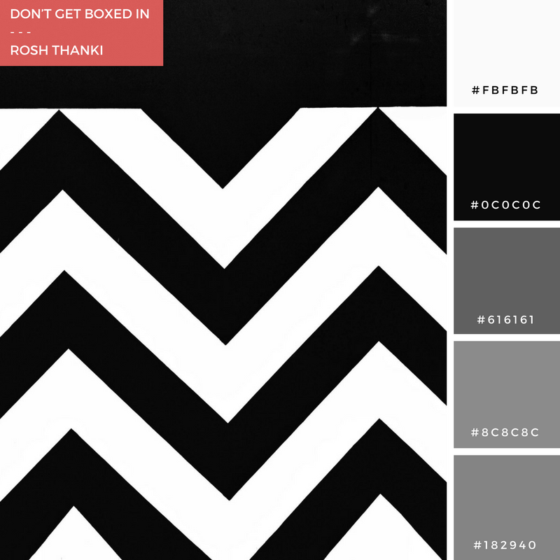 Colour Palette for Don't Get Boxed In by Rosh Thanki, Boxpark zig zag wall