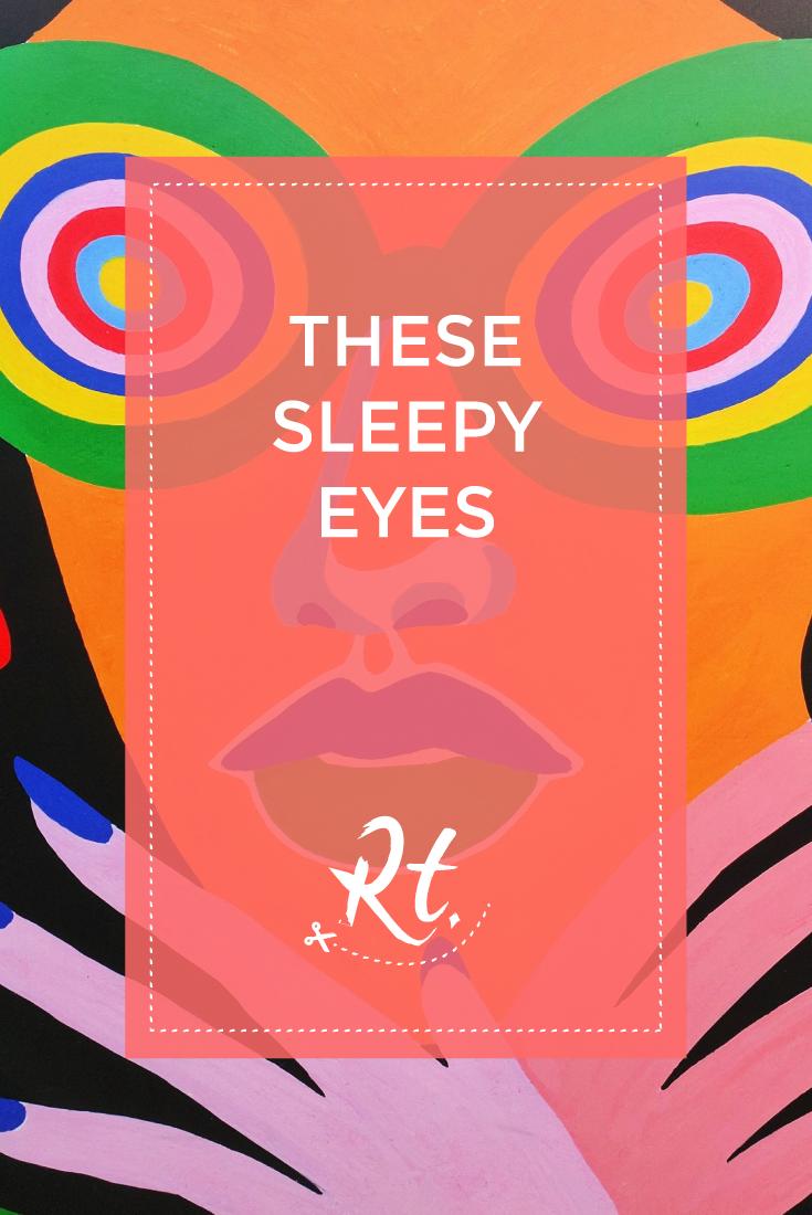 These Sleepy Eyes by Rosh Thanki, Lynnie Z illustration exhibition at Boxpark Shoreditch
