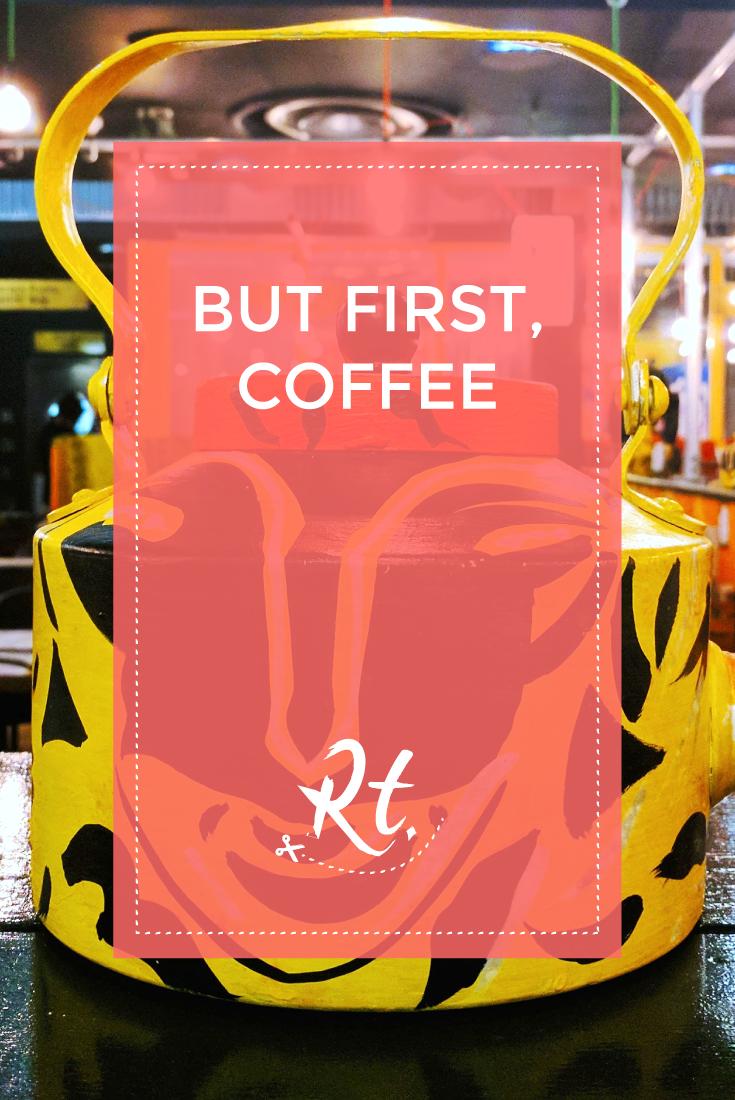 But First, Coffee by Rosh Thanki, indian tea pot at Chai Thali, Camden