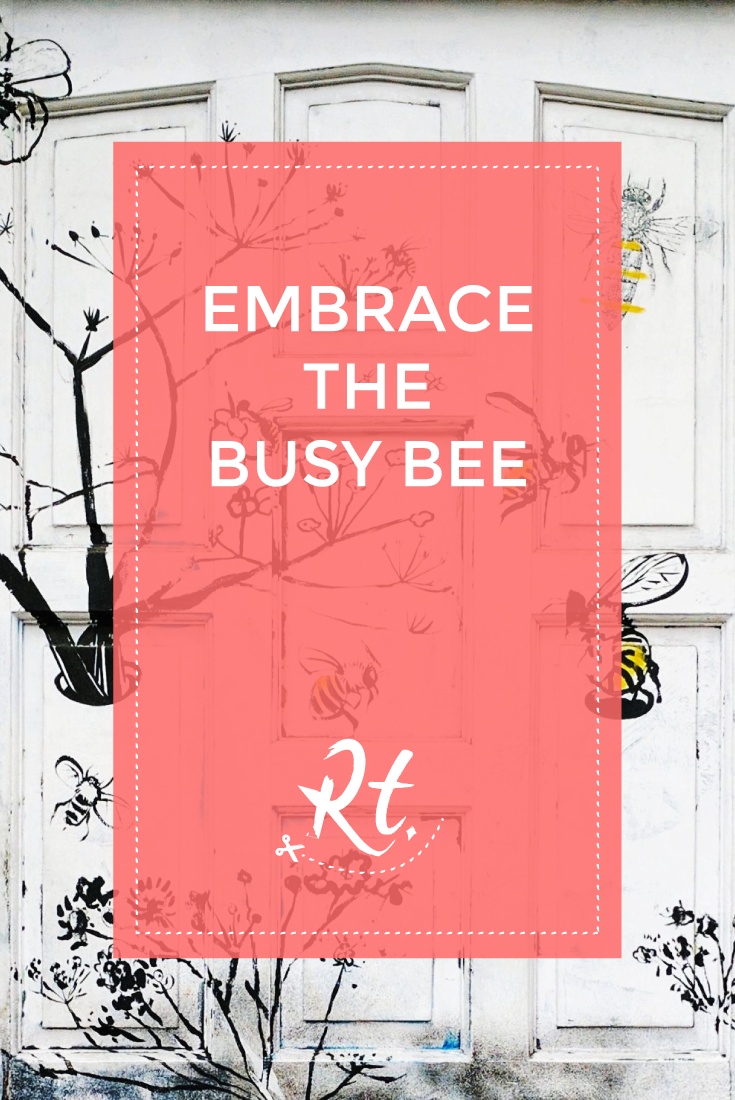 Embrace the Busy Bee by Rosh Thanki, clapham bee and wasp door