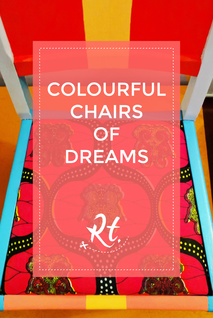 Colourful Chairs of Dreams by Rosh Thanki, restoration station collaboration with Yinka Ilori
