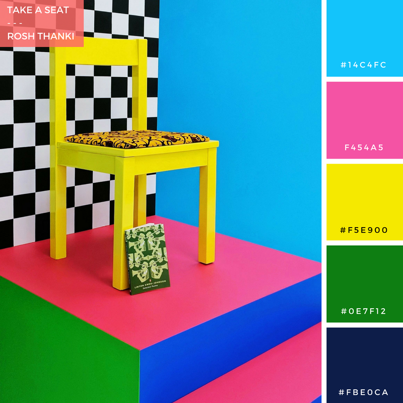 Colour Palette for Take a Seat by Rosh Thanki, Yinka Ilori's chair sculptures for London Design Festival at the Africa Centre.png