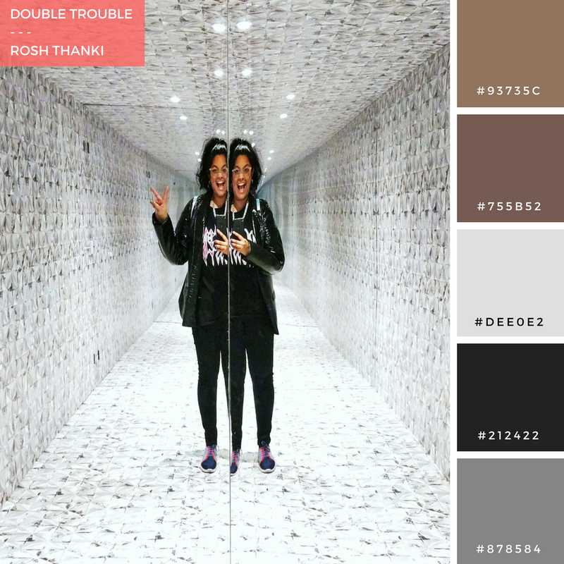 Colour Palette for Double Trouble by Rosh Thanki, House of Wallpaper by Graham and Brown in Soho
