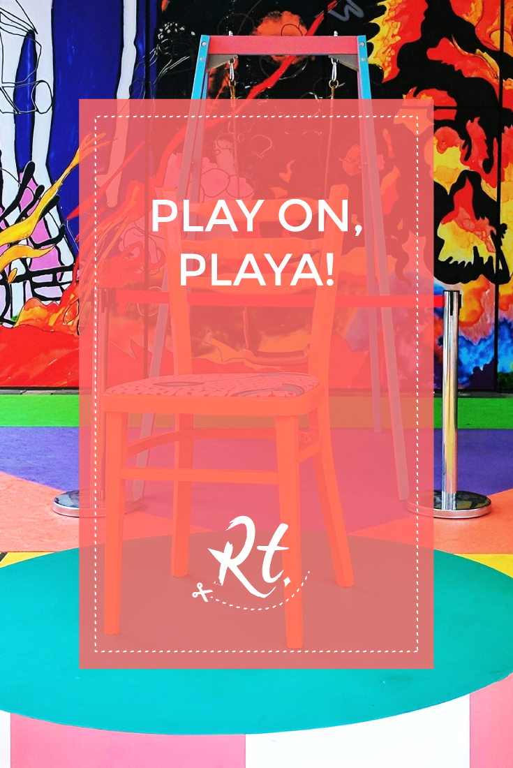 Play On, Playa! by Rosh Thanki, Yinka Ilori playground installation at Citizen M in Shoreditch for London Design Festival