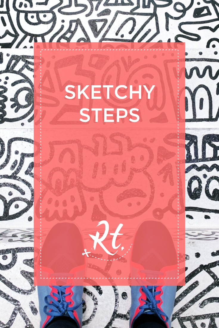 Sketchy Steps by Rosh Thanki, Mr Doodle's scribbled stairs at We Built This City