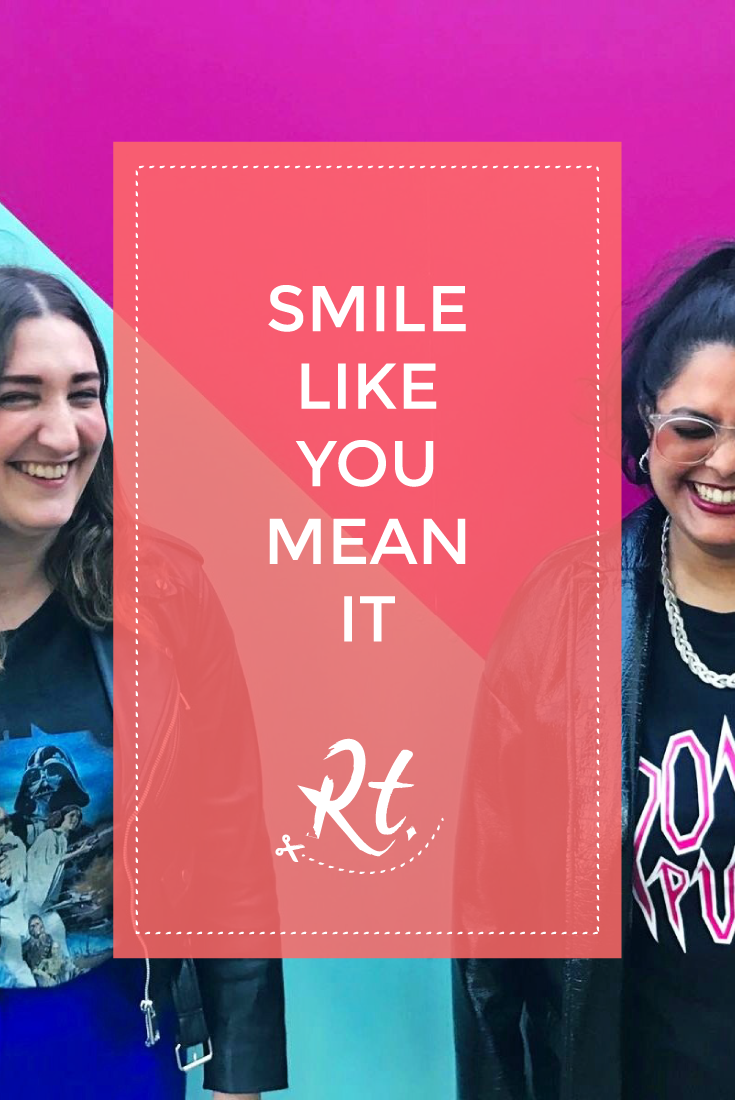 Smile Like You Mean It by Rosh Thanki, Natasha Nuttall and I at King's Cross with Monki T-Shirt