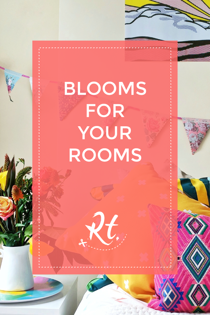 Blooms for Your Rooms by Rosh Thanki, patterns in the bedroom and a bloom and wild bouquet of flowers