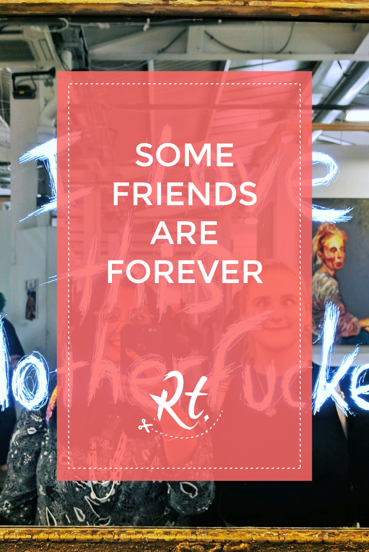 Some Friends Are Forever by Rosh Thanki, Graeme Messer mirror artwork at the other art fair