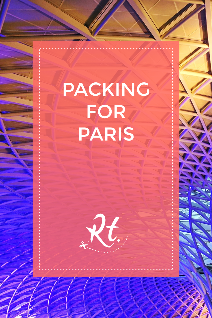 Packing for Paris by Rosh Thanki, King's cross station's geometric purple roof