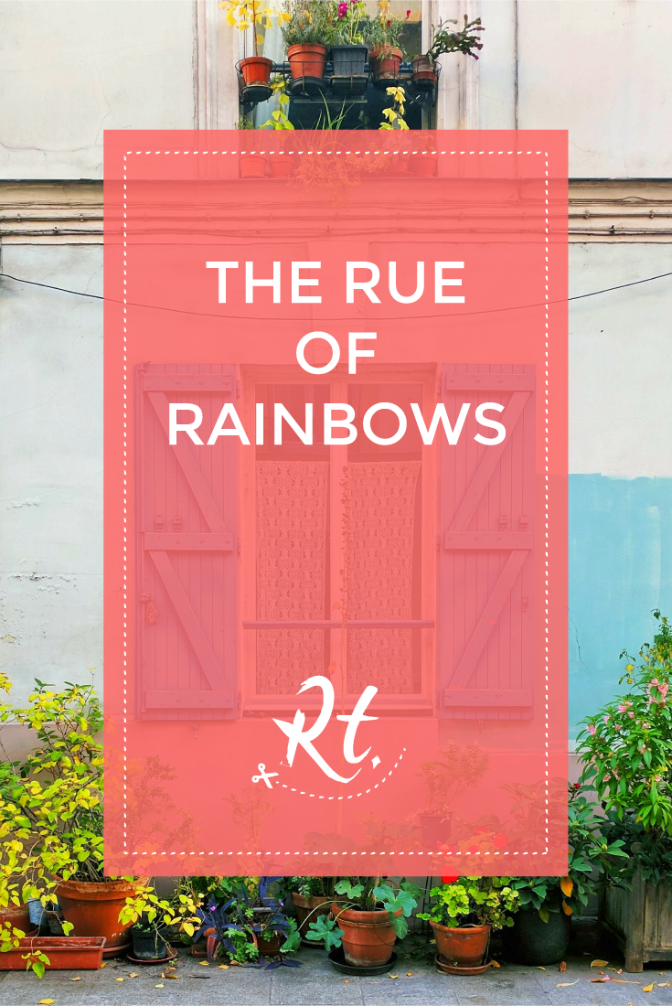 The Rue of Rainbows by Rosh Thanki, rue crémieux colourful house in Paris.png