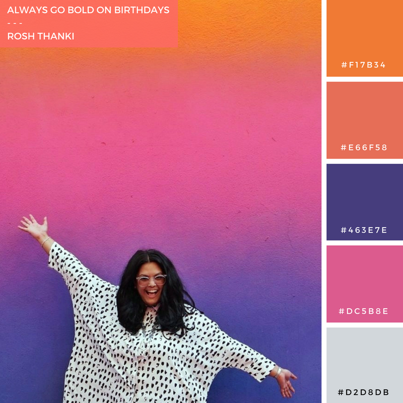 Colour Palette for Always Go Bold on Birthdays, gradiented wall at pigalle basketball court by pigalle ashpool, ill studio and nike