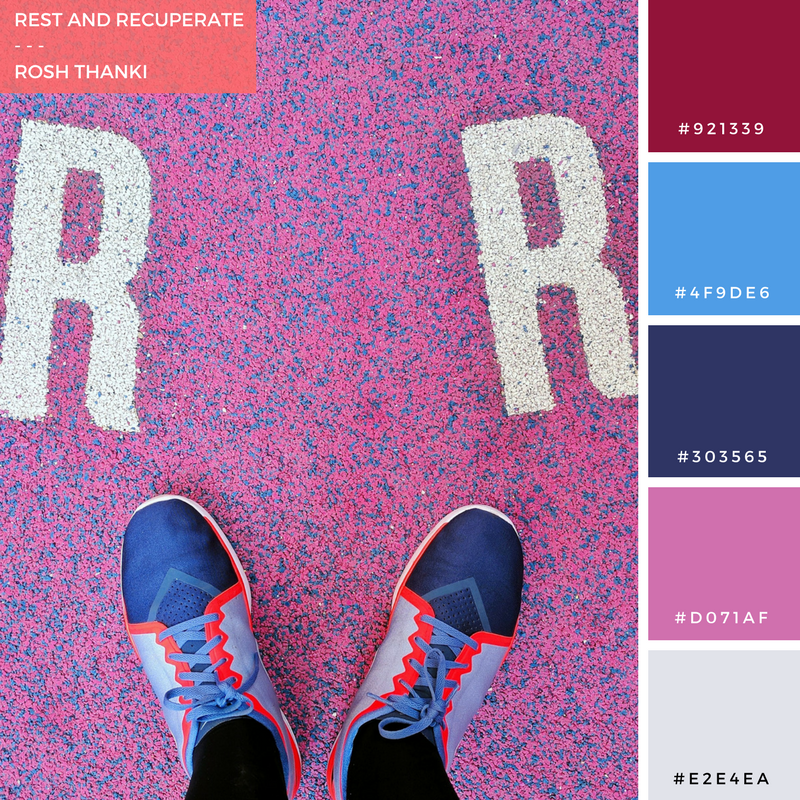 Colour Palette for Rest and Recuperate by Rosh Thanki, Pigalle Basketball Court at Paris