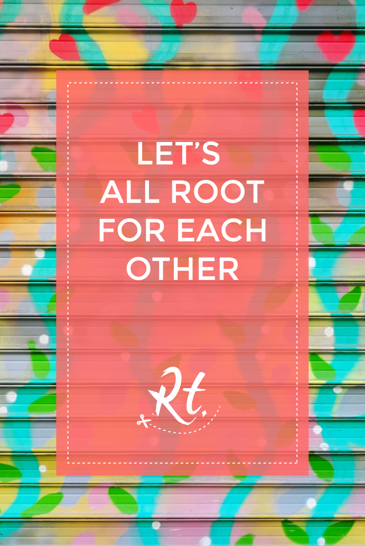 Let's All Root for Each Other by Rosh Thanki, shutter art in Paris by Kashink