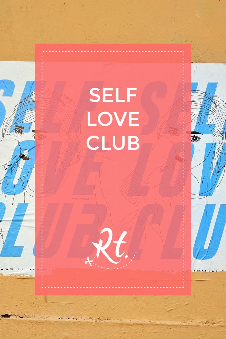Self Love Club by Rosh Thanki, poster art found in Paris
