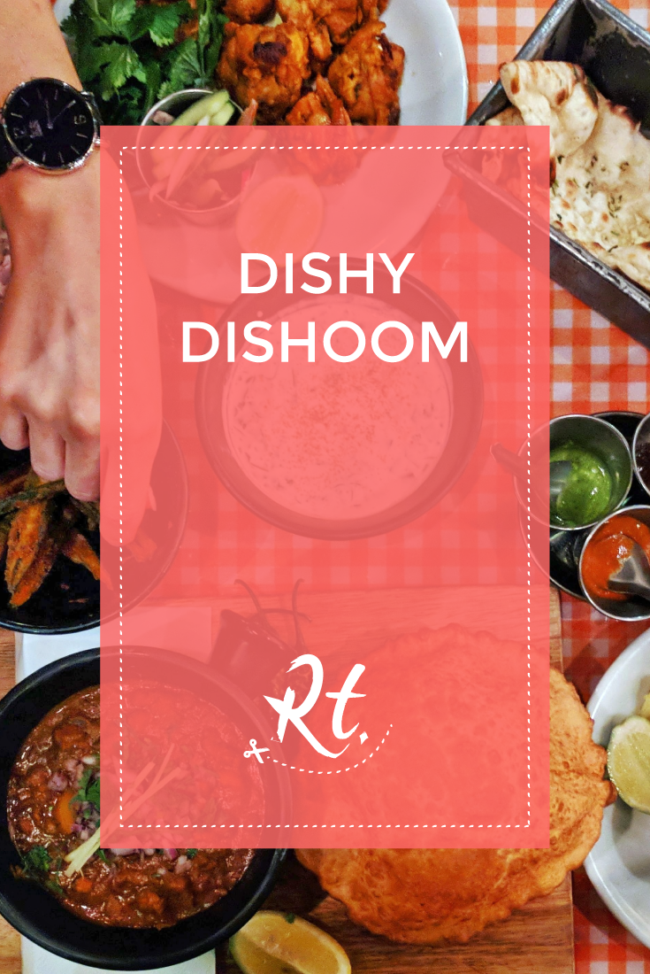 Dishy Dishoom, by Rosh Thanki, food flat flay of indian food at dishoom in carnaby street