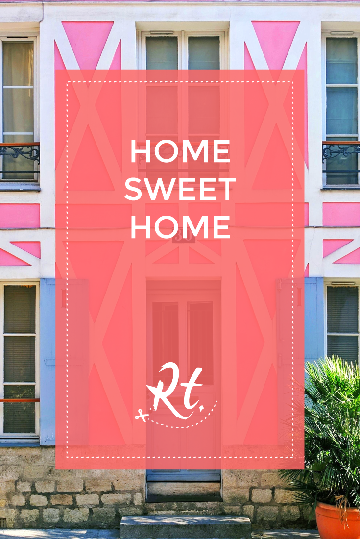 Home Sweet Home by Rosh Thanki, pink house at the Rue Crémieux in paris