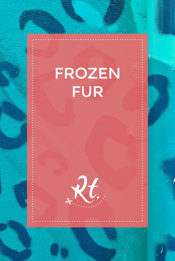 Frozen Fur by Rosh Thanki, Juju Brighton's blue leopard print store front, street art