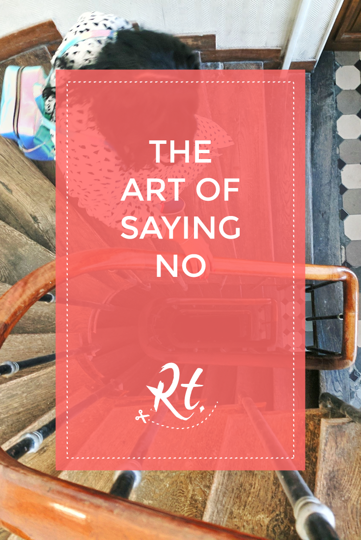 The Art of Saying No by Rosh Thanki, Parisian spiral staircase