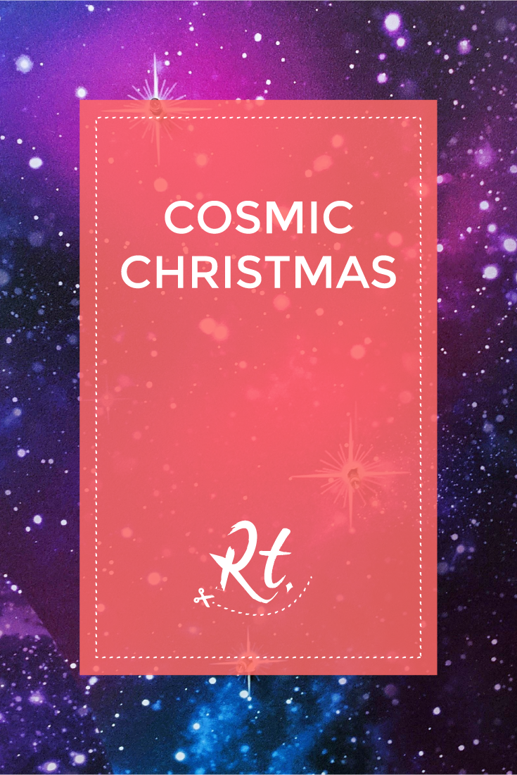 Cosmic Christmas by Rosh Thanki, Paperchase space style Christmas wallpaper